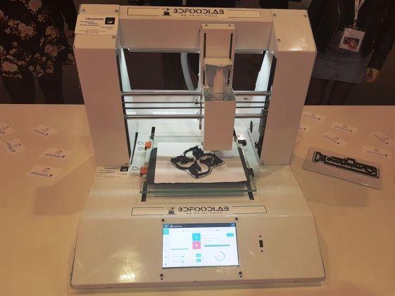 Imprimanta 3D de mâncare prezentată la Barcelona