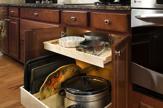 Kitchen Shelves That Pull Out