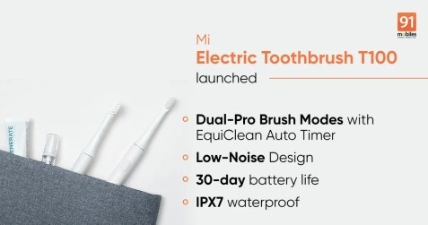 Mi Electric Toothbrush T100 price in India, features