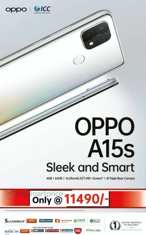 OPPO A15 price-in-India