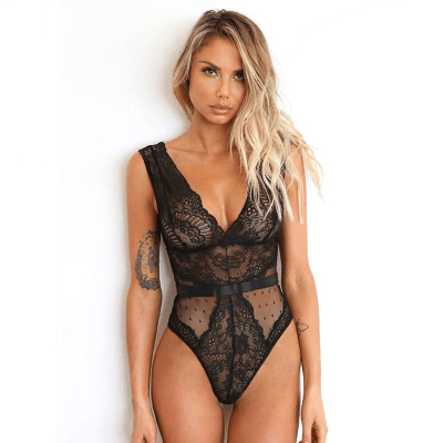 Summer Lace Women Floral Bodysuit