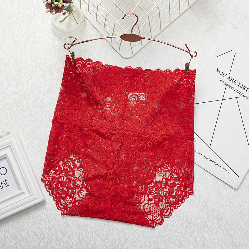 Women Seamless Lace Mesh Panties