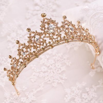 Gold Crystal Bridal Tiaras