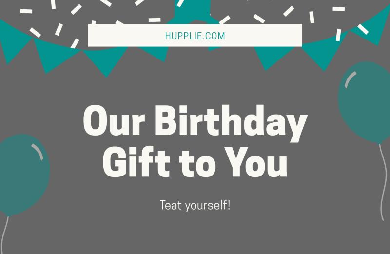 Hupplie birthday Gift Card 1