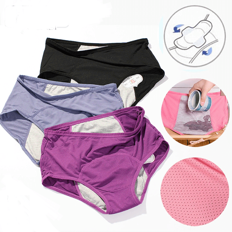 3pcs Leak Proof Menstrual Panties