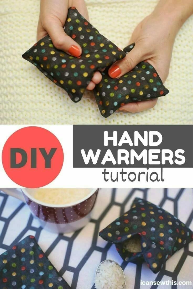 how to make reusable rice hand warmers