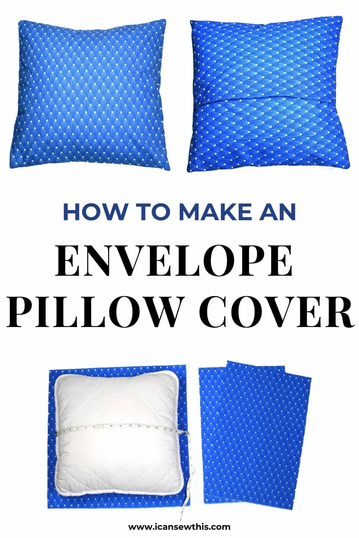 an envelope pillow cover tutorial
