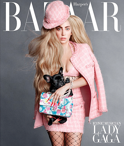 Lady Gaga And Her Adorable Dog Asia Cover The September ...