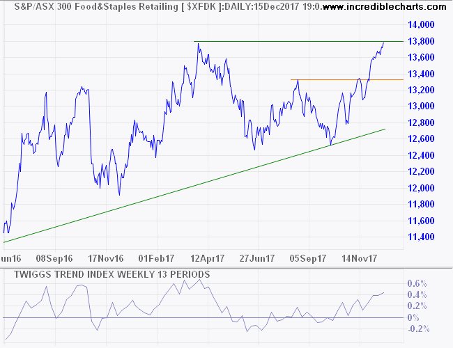 ASX 300 Food & Staples Retailing