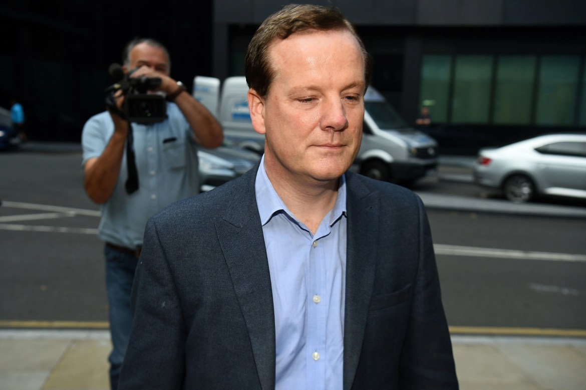 Charlie Elphicke arrives for sentencing