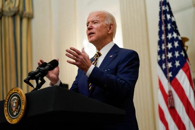 Biden spends first weekend enacting new reforms. Trump spent his lying