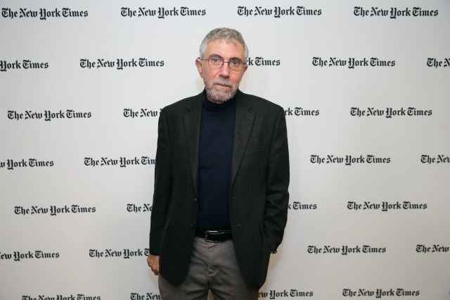 Nobel Prize-winning economist and New York Times Opinion columnist Paul Krugman attends The New York Times Food For Tomorrow Conference 2015