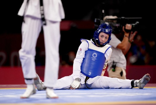 <p>Jade Jones saw her bid to become the first British woman to win gold medals at three straight Olympics come to an abrupt end in Tokyo (Mike Egerton/PA)</p>