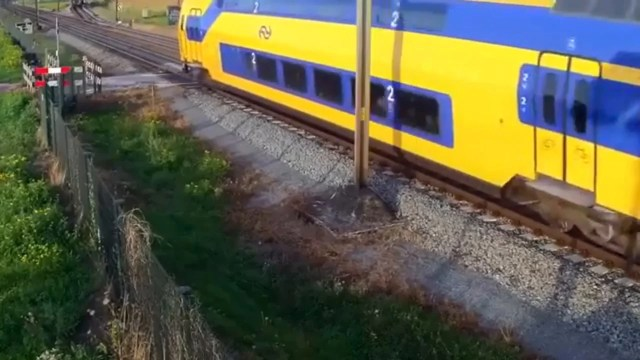 Cyclist Narrowly Avoids Being Hit By Train On Level Crossing In The Netherlands The Independent