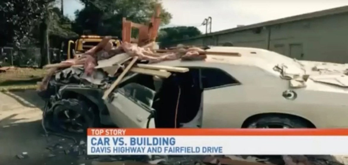 Man tries to 'time travel', drives his car straight through the wall of a  shopping centre | indy100 | indy100