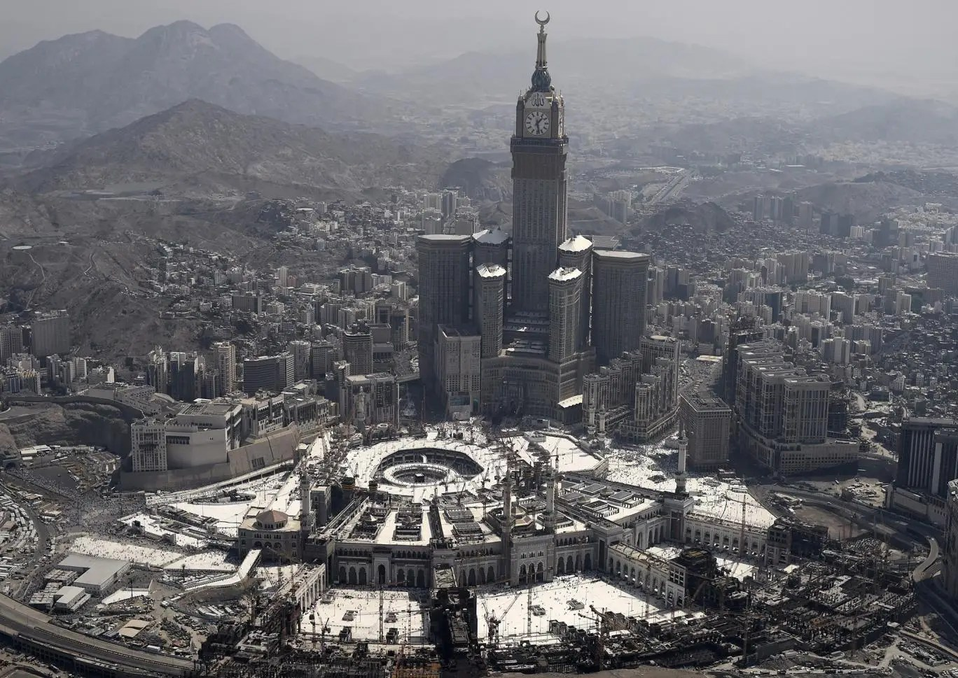 The Clock Tower and the Grand Mosque in the Saudi holy city of Mecca, September 25, 2015