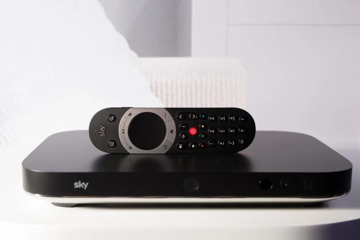 The Sky Q box also comes with a flashy new remote