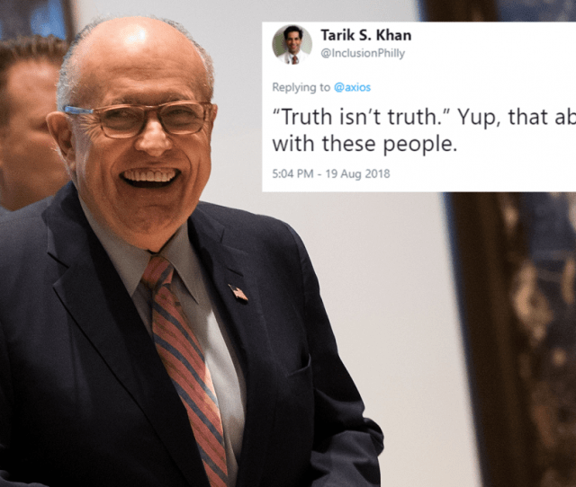 Trumps Lawyer Said That Truth Isnt Truth So Weve Now Reached Peak Indy Png X Desi
