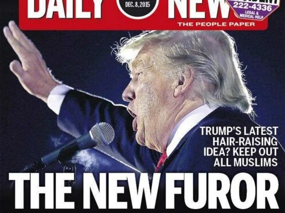 Philadelphia Daily News front page on Trump