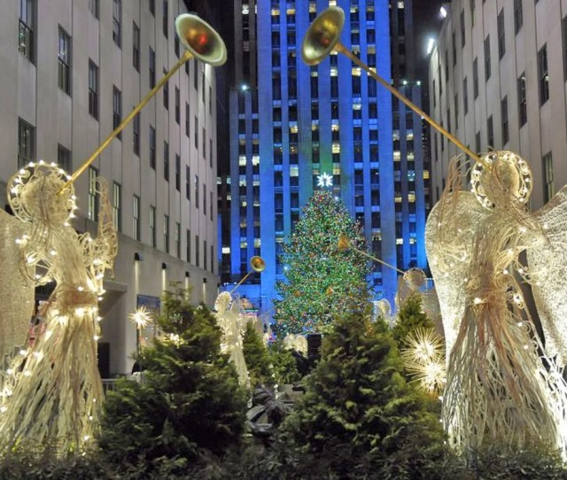The Rockefeller Center Christmas Tree Stands Lit During The Th Annual Lighting Ceremony In New York