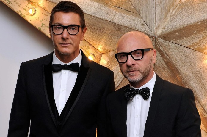 Image result for Dolce & Gabbana — Domenico Dolce and Stefano Gabbana