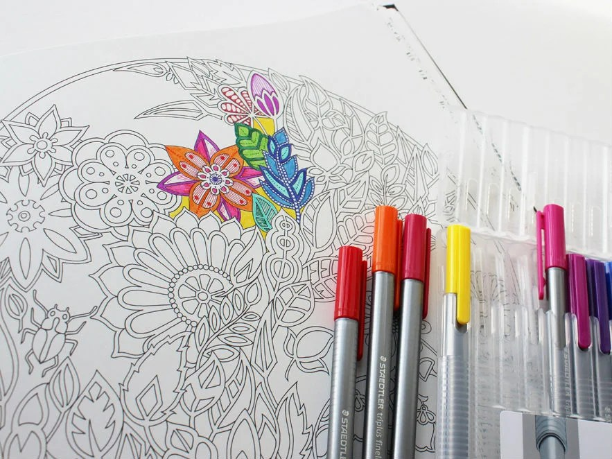 join the colouring in craze and find a tome to help you get calm and creative