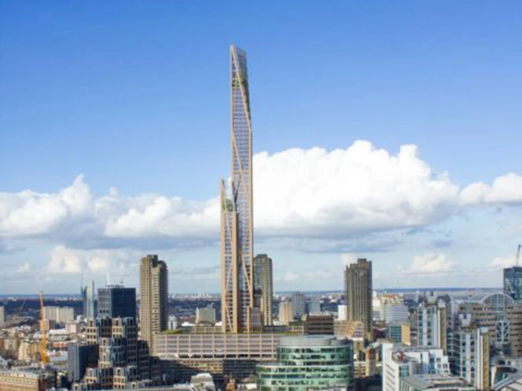The Toothpick Wooden Skyscraper On Top Of Barbican Could
