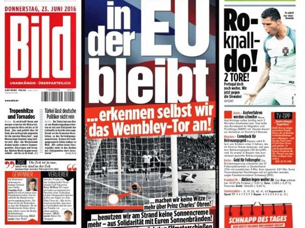 EU referendum German newspaper Bild promises to accept