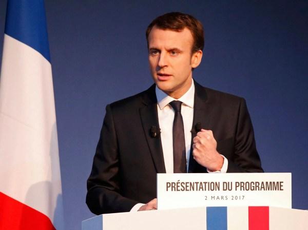 French presidential election: Frontrunner Emmanuel Macron ...