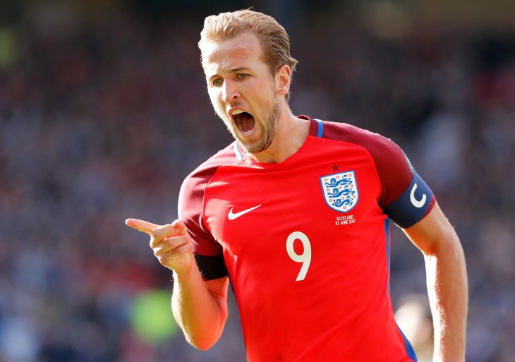 Image result for kane celebrating against scotland