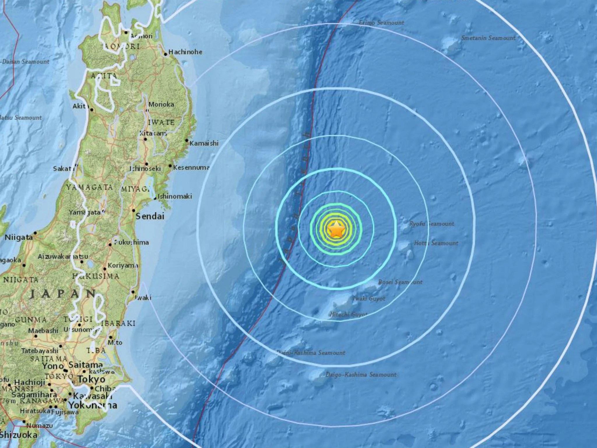 Japan Earthquake Magnitude 6 1 Tremors Hit East Coast