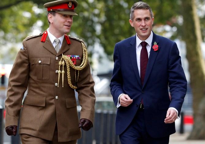 Image result for Defence Minister Gavin Williamson