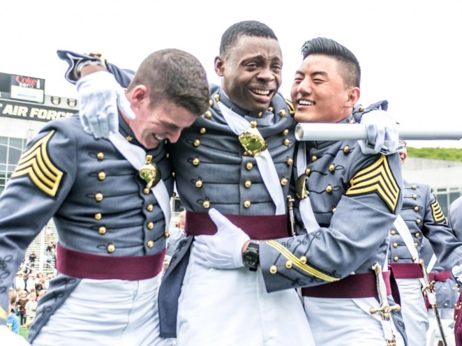 Newly commissioned 2nd Lt. Alix Schoelcher Idrache, became the Maryland Army National Guard's first West Point graduate