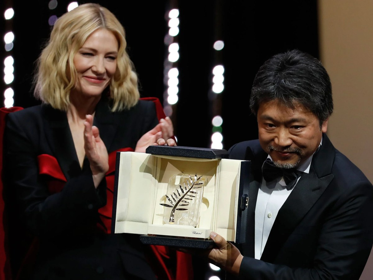 Image result for shoplifters wins palme d'or