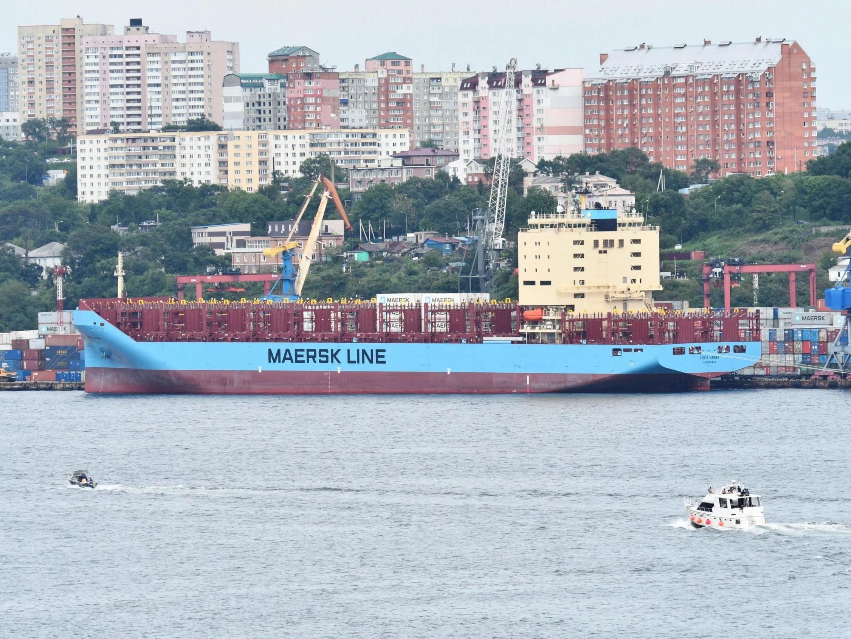 The Venta Maersk in the Russian port of Vladivostok last month