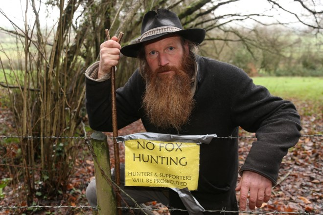 Paul Chant says he was targeted days after finding a hunt on his farm and hours after protesting against hunting