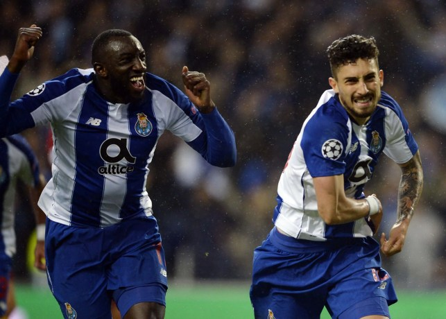 Alex Telles scored late in extra time to send Porto through