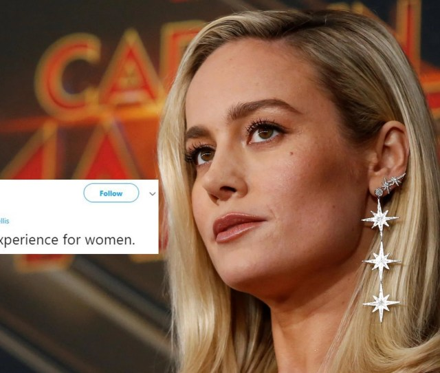 Brie Larson Asked If Captain Marvel Had Predicted The Movies Smiling Controversy Indy100