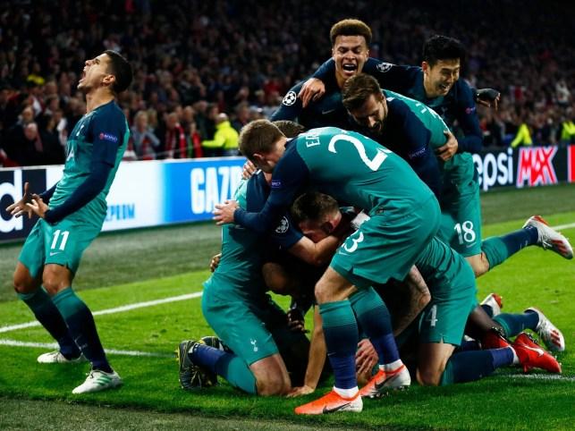 Ajax 2-3 Tottenham (3-3 Spurs win on away goals)