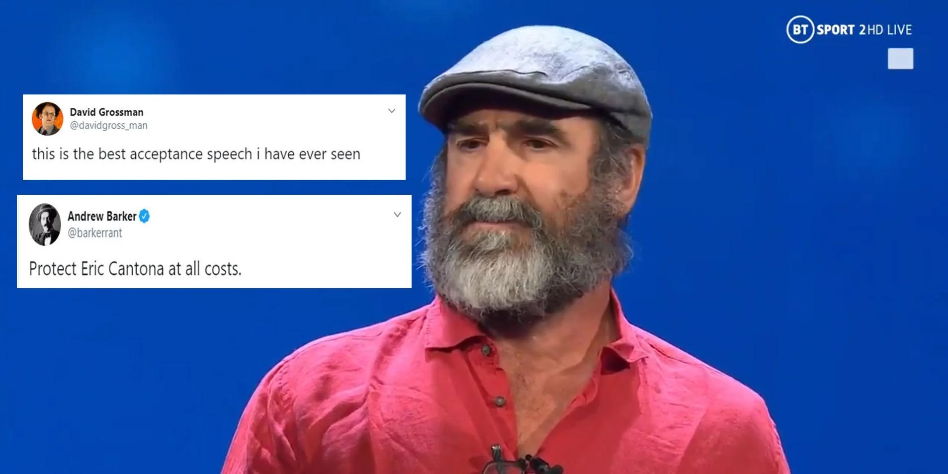 I still support united and always will. Eric Cantona Gives Bizarre Speech For Uefa President S Award Indy100 Indy100