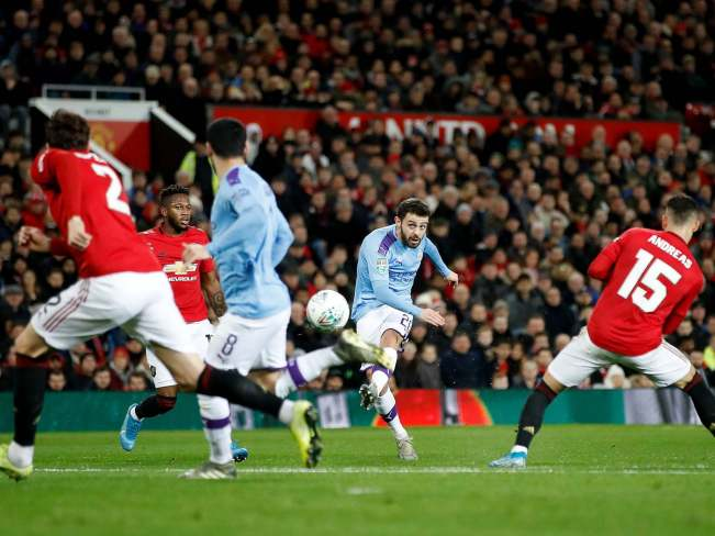 Image result for manchester united vs manchester city carabao cup