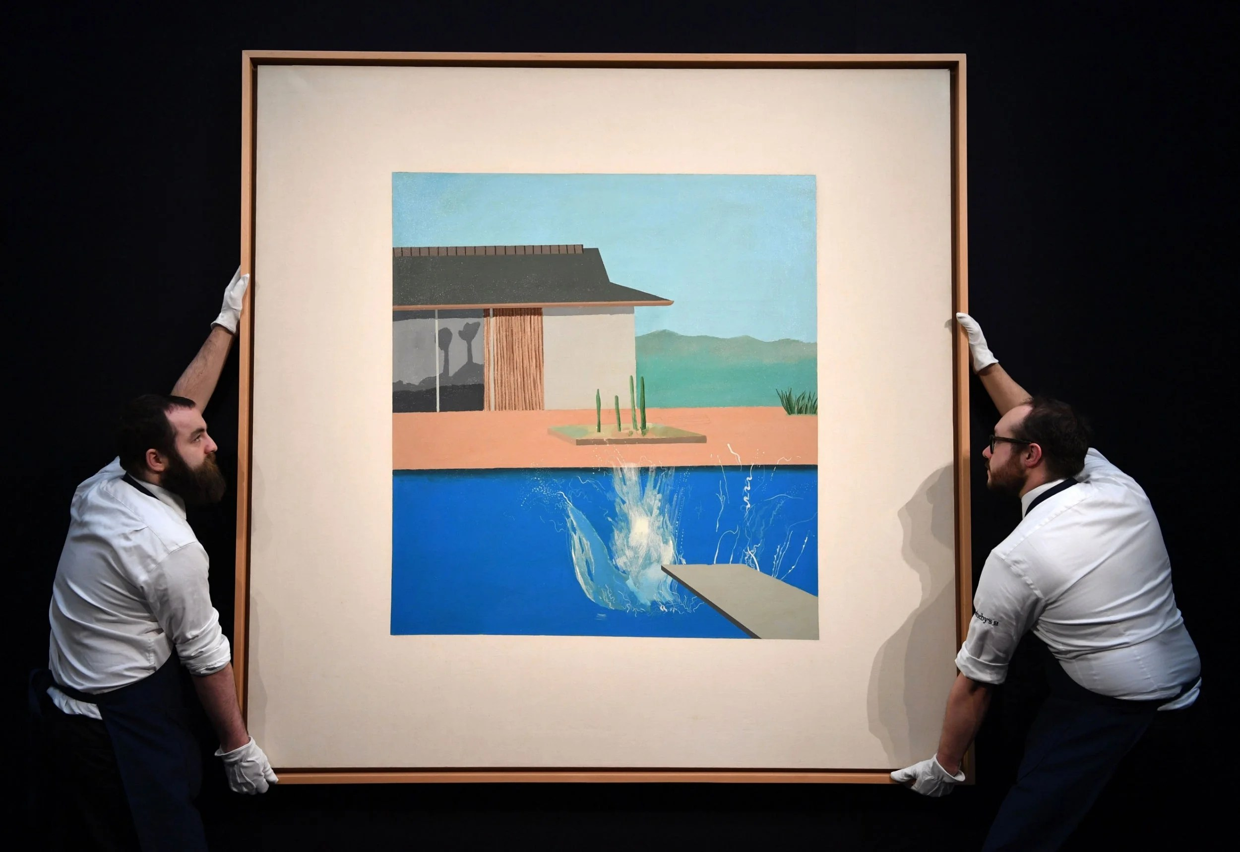 David Hockney S The Splash Fetches 23 1m At Auction The Independent The Independent