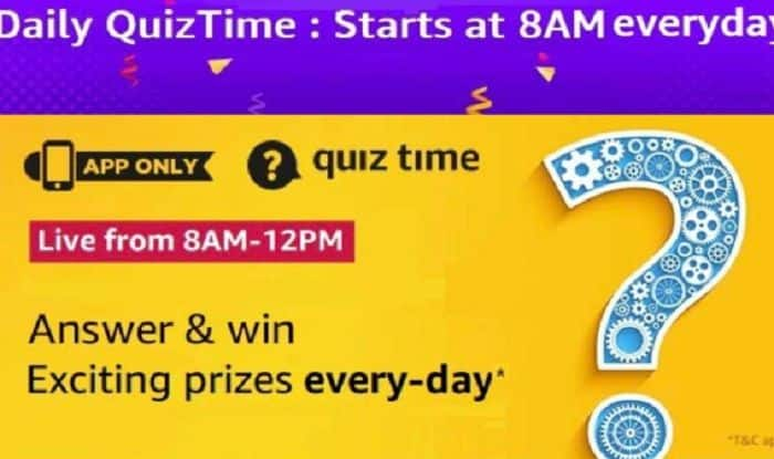 Amazon Quiz Answers 29 January 2021– Give Answers to These 5 Questions and Win Rs 15,000 Amazon Pay Balance