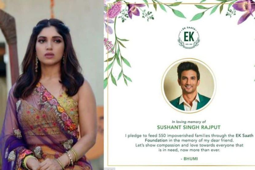 Sushant Singh Rajput's Death: Bhumi Pednekar Pledges to Feed 550 Impoverished Families in Loving Memory of Late Actor 2