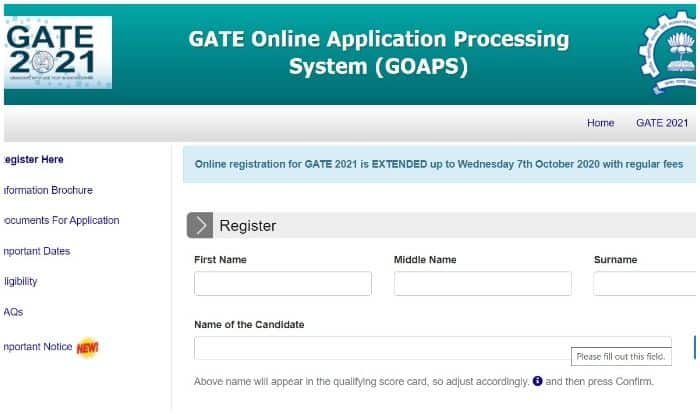 GATE 2021: Online Portal GOAPS Reopened, Change Examination City At gate.iitb.ac.in NOW