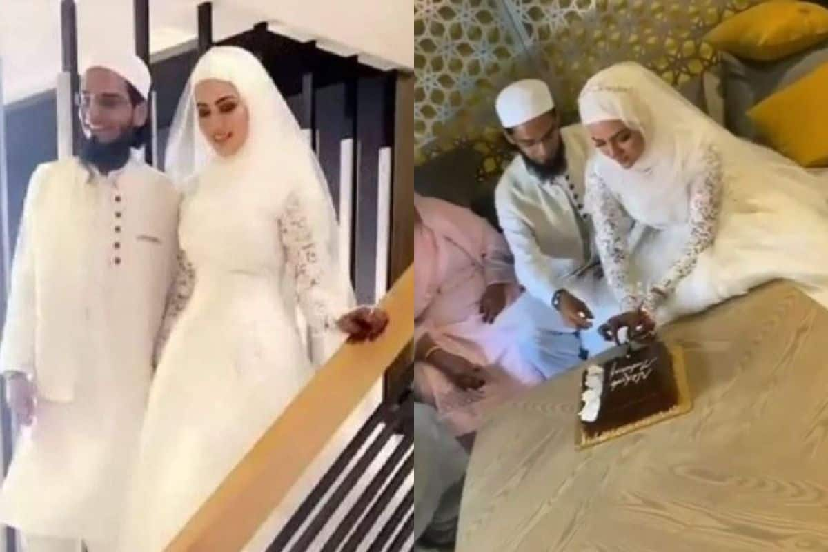 After Quitting Showbiz, Sana Khan Gets Married To Mufti Anaas in Intimate Wedding, Pics Surface