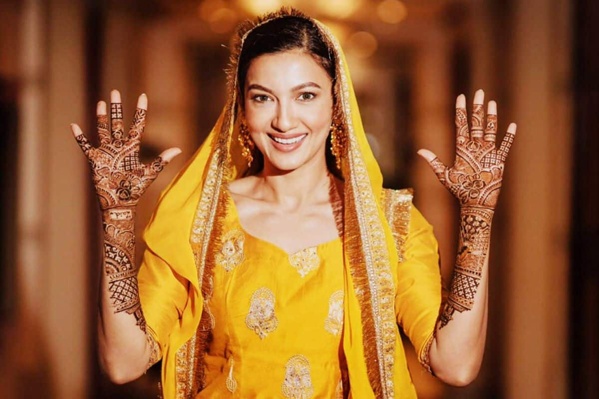 Gauahar Khan Mehendi Ceremony Pictures Out: Actor Glows in Yellow Ethnic Wear, Henna-Clad Hands