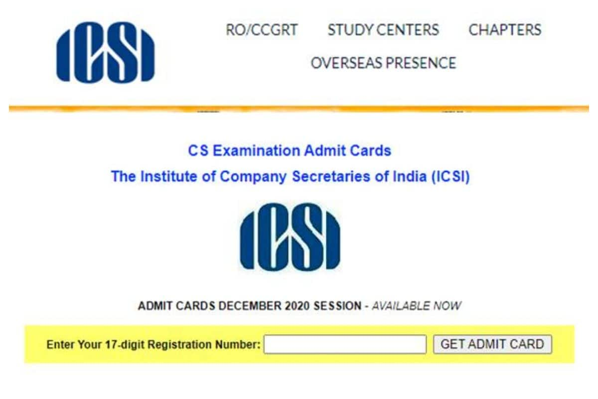 ICSI CS Admit Card 2020 Released at icsi.edu For Executive and Professional Courses| Check How To Download
