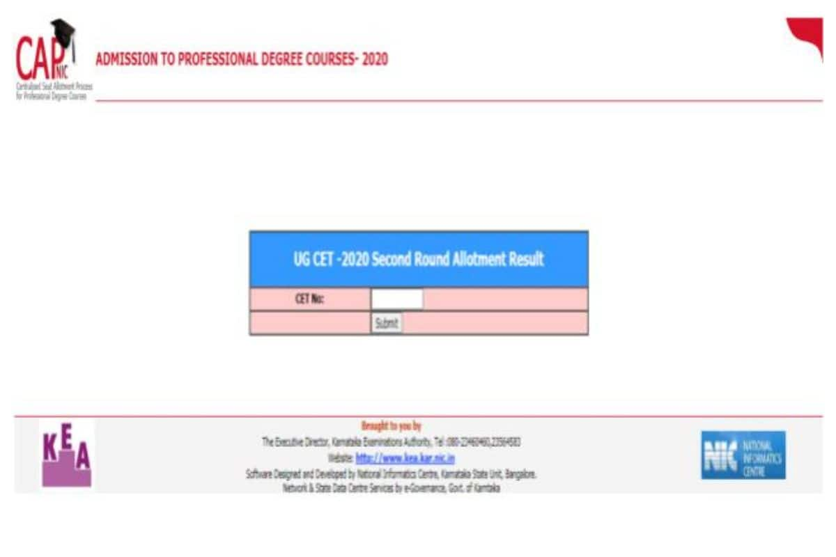 KCET 2020 Round 2 Seat Allotment Result Declared At cetonline.karnataka.gov.in, Check Now