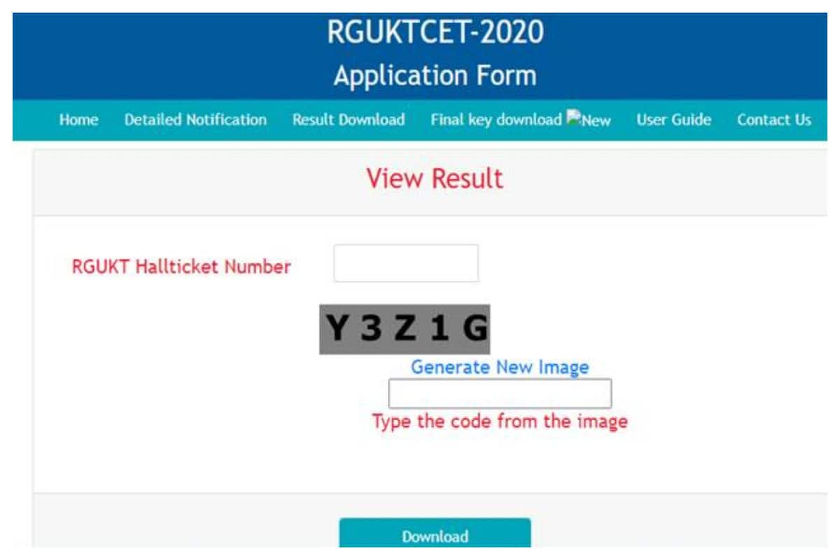 RGUKT CET Result 2020 Declared for Admission to IIITs At rguktcet.in, Know How To Check